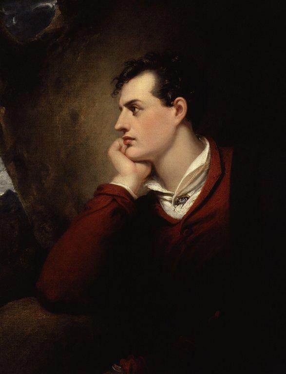 Байрон на картине Ричарда Весталла (1813)