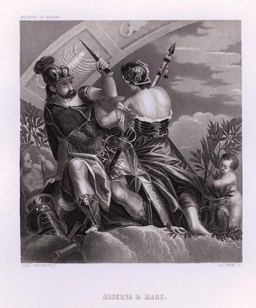 Минерва и Марс. Художник Веронезе (Паоло Кальяри) (1528-1588)