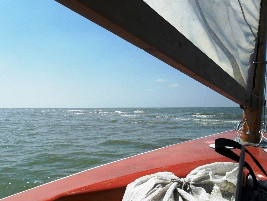 Азовское море, у берегов, Ачуевская коса, яхтенный поход... 006 ... 004