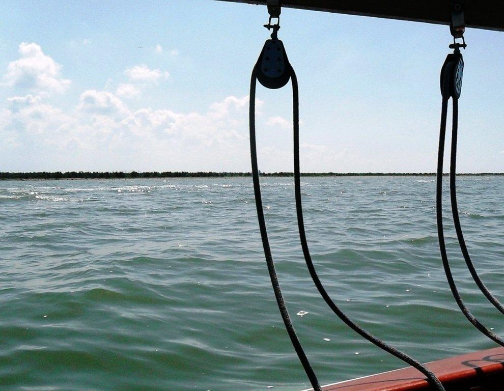 Азовское море, у берегов, Ачуевская коса, яхтенный поход... 006 ... 006