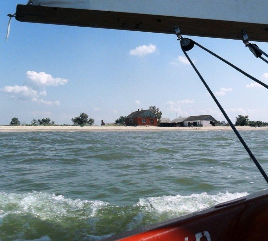 На яхте, в походе, туризм, август, море Азовское... 008. 010
