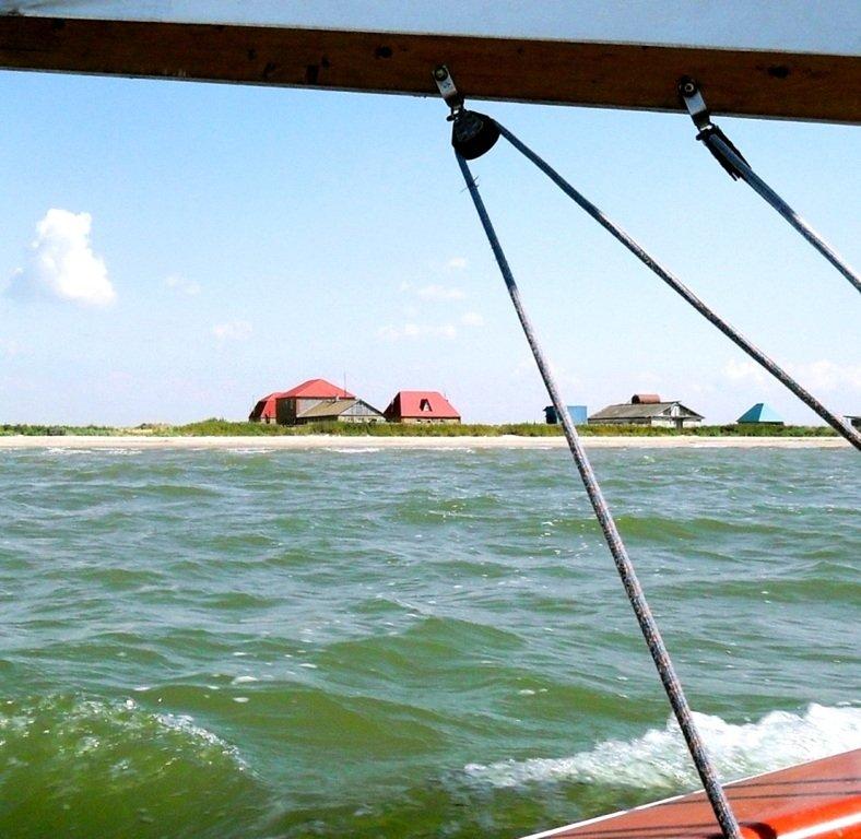 Яхтенное хождение, август, Азовское море, у Ачуевской косы... 009. 012