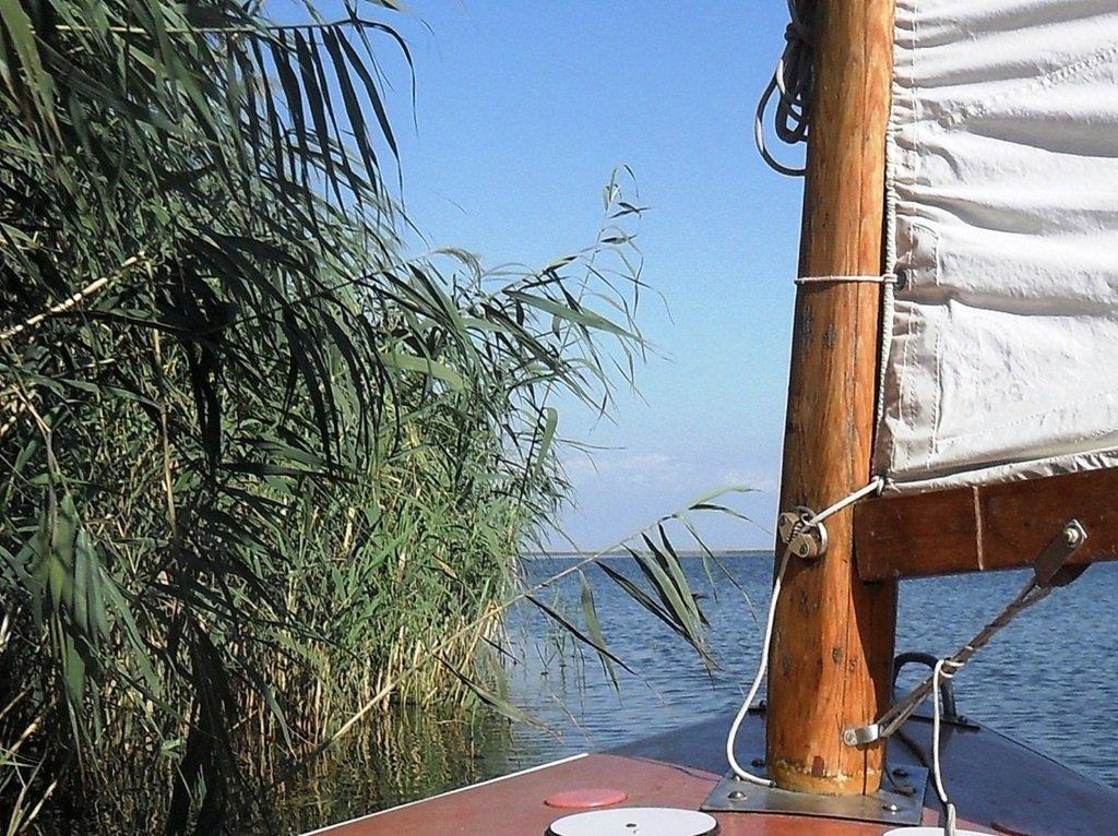 На косе Ачуевской, в каналах и лиманах, с парусом, август... 012. 006