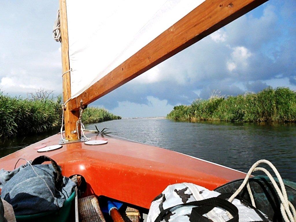 Прохождение гирла Авдиева, к морю Азовскому, на яхте... 017. 010
