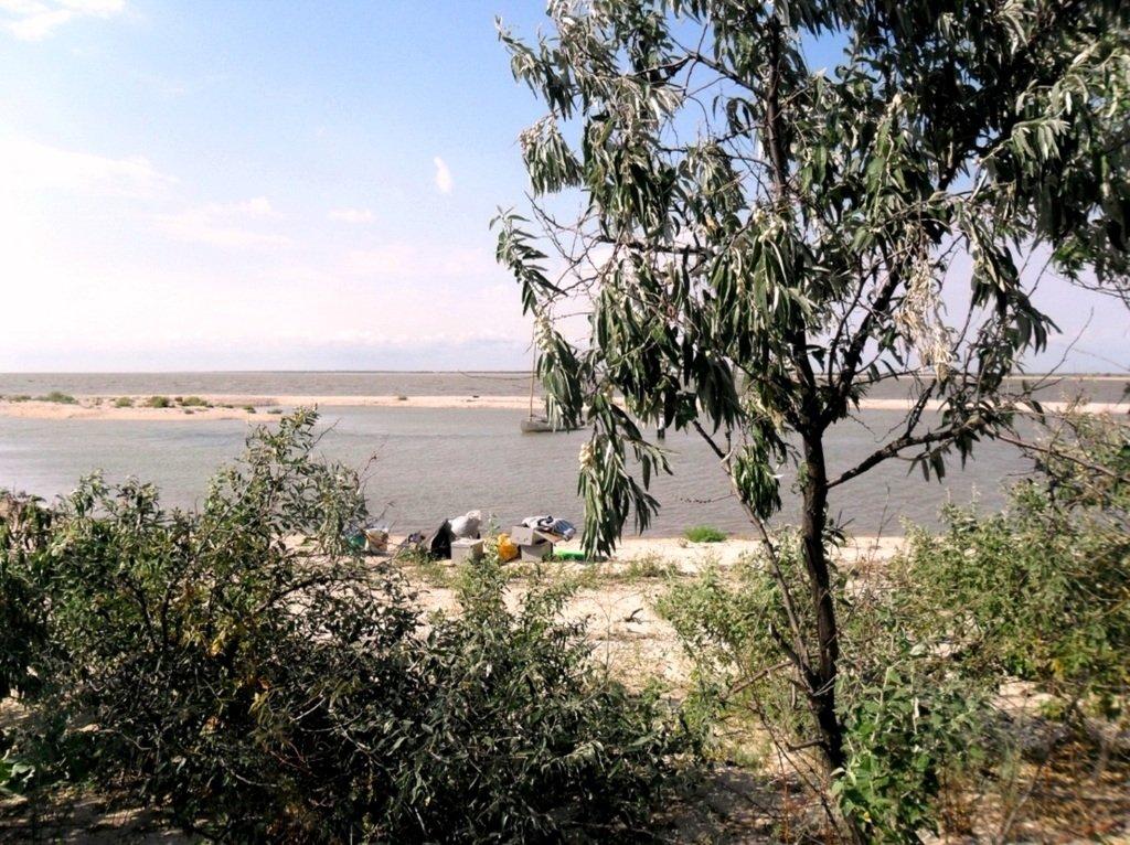 В проливе Бейсугском, высадка на берег, Ясенская коса, август ... 022. 008