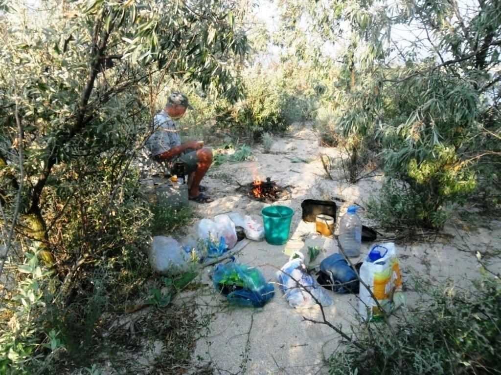 На Природе, Азовское побережье, август, в походе... 029. 009