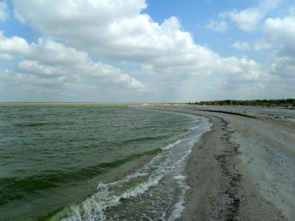 В ясный день, у моря Азовского, август, на Ясенской косе... 033. 001