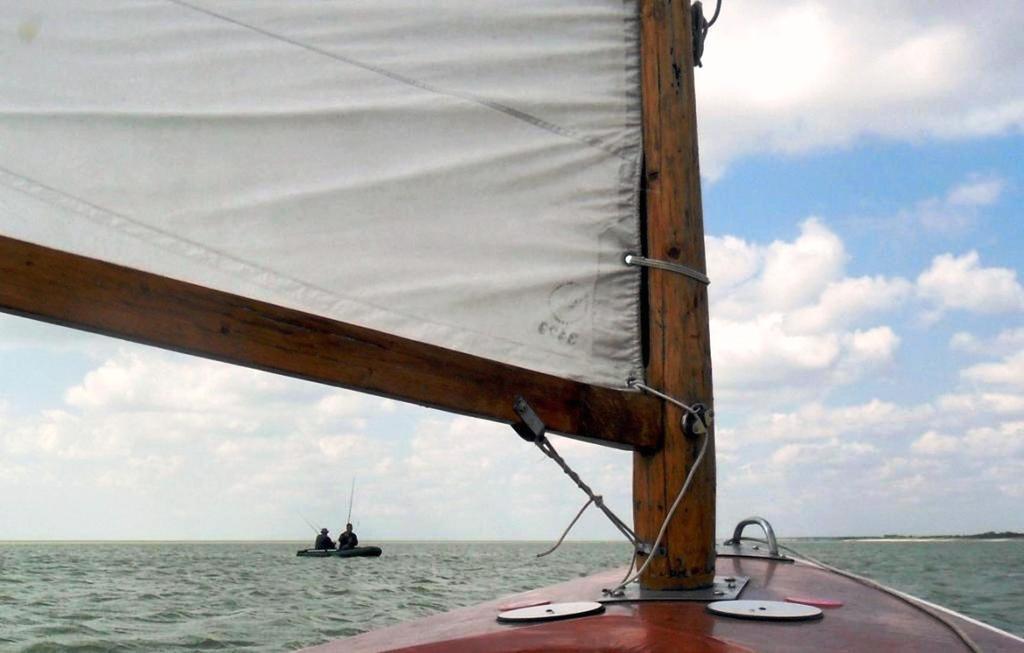 Выход в море, с парусом, в проливе, у Азовских берегов... 034. 008