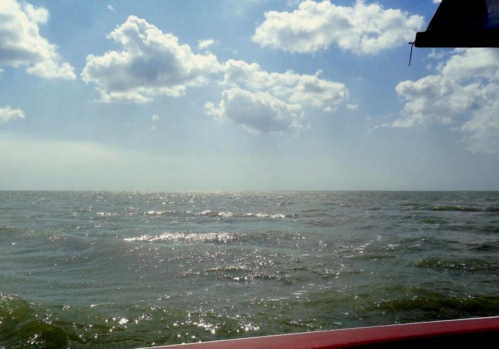 На морском просторе, солнечный день, у Азовских берегов, в августе... 035. 008
