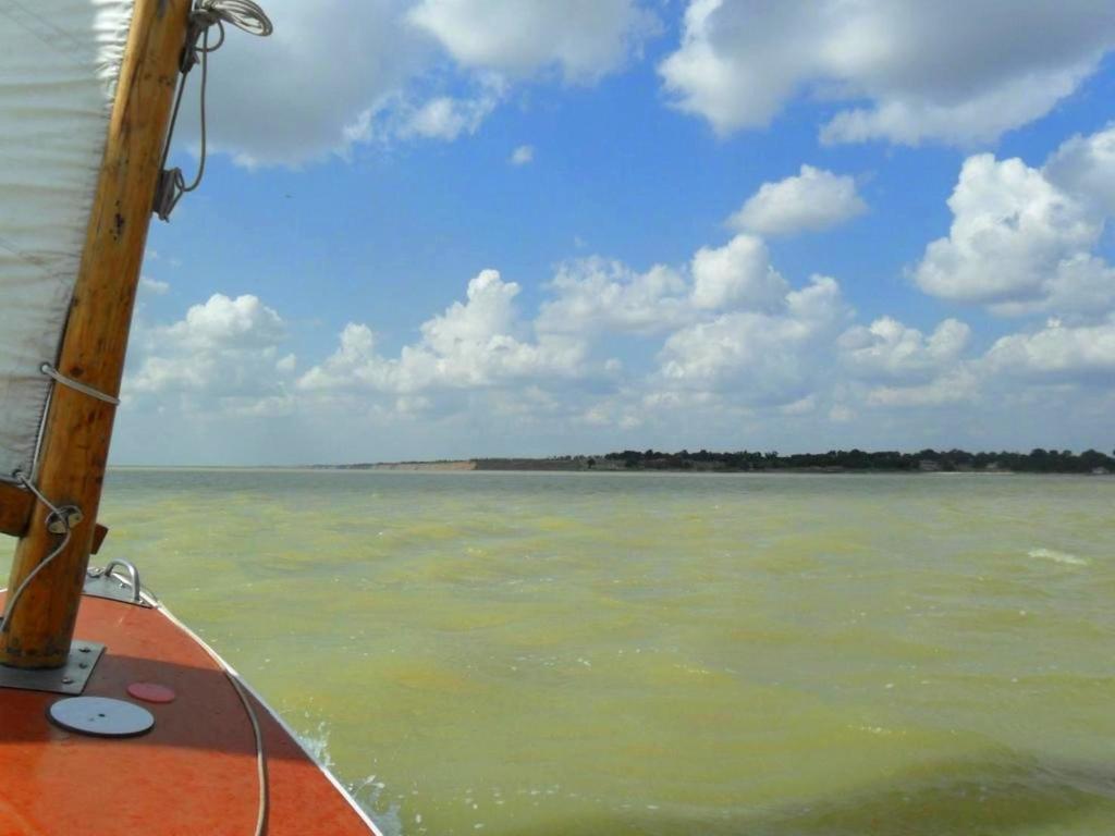 В августе, на яхте, с парусом, море Азовское, на воде, фото, туризм... 036. 002