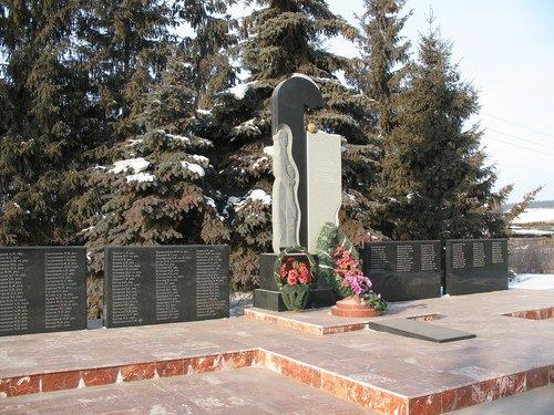 Обелиск памяти об ушедших на Великую Отечественную войну жителях Нижней Ельцовки