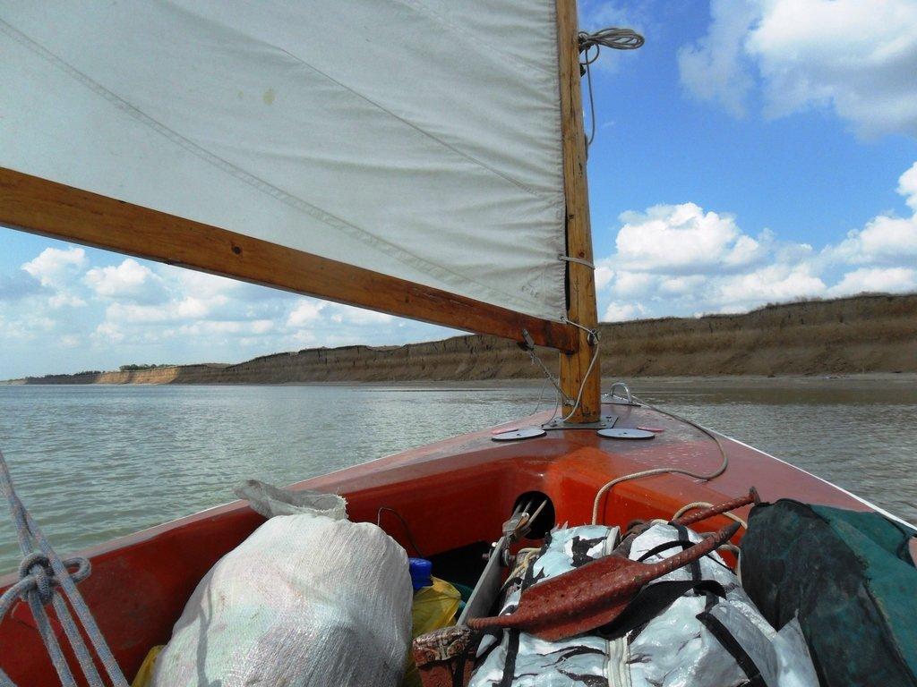 036. В походе, на яхте, у Шиловки, море Азовское... 009