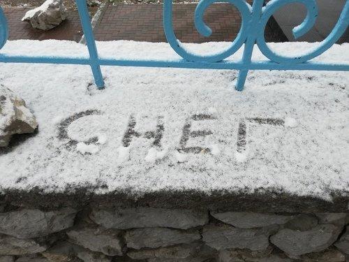 Первый снег в Крыму