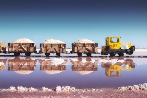 Добыча соли в Западном Крыму.