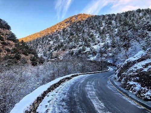 Зима в каньоне Узунджа.