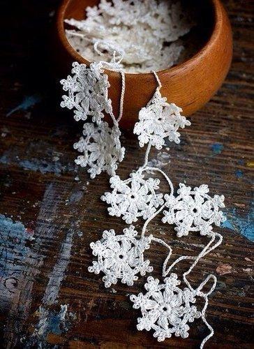 Теплые снежинки. Идеи для Нового года.