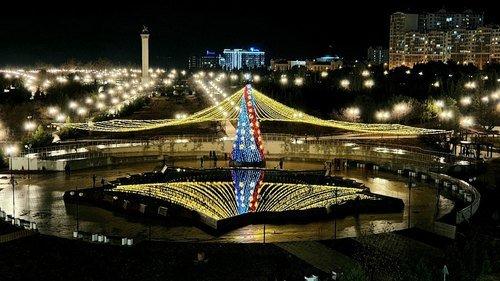 Фонтан в парке Победы.