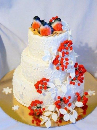 Зимний торт.