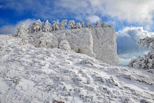 Зимняя сказка в горах.