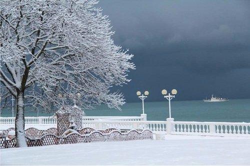 Утро на Черном море.Похолодание.