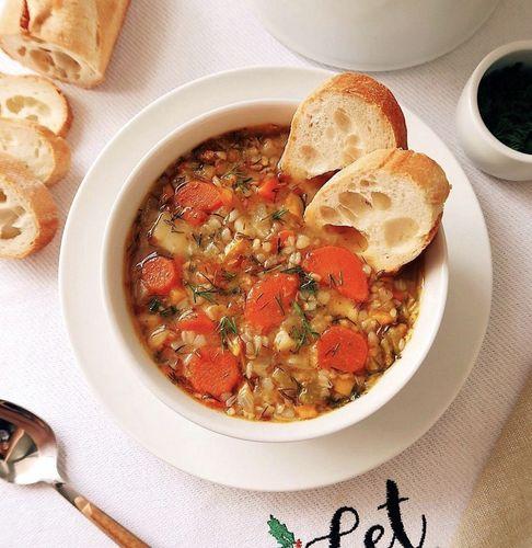 ЕДА НА КАРАНТИНЕ. Густой гречневой суп.