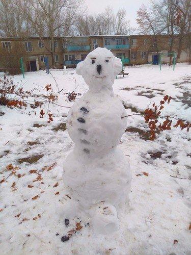 Символ зимы-снеговик.