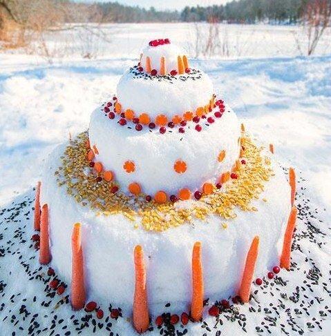 Снежный торт.