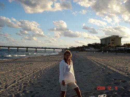 Флоридский пляж в декабре.