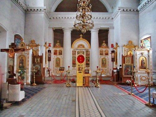 Интерьер церкви Иоанна Милостивого в Мстёре