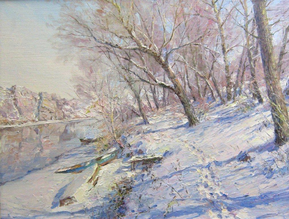 """Е. Г. Ворожцов. """"Какая гладь, какой простор, какой покой в снегах таится""""."""