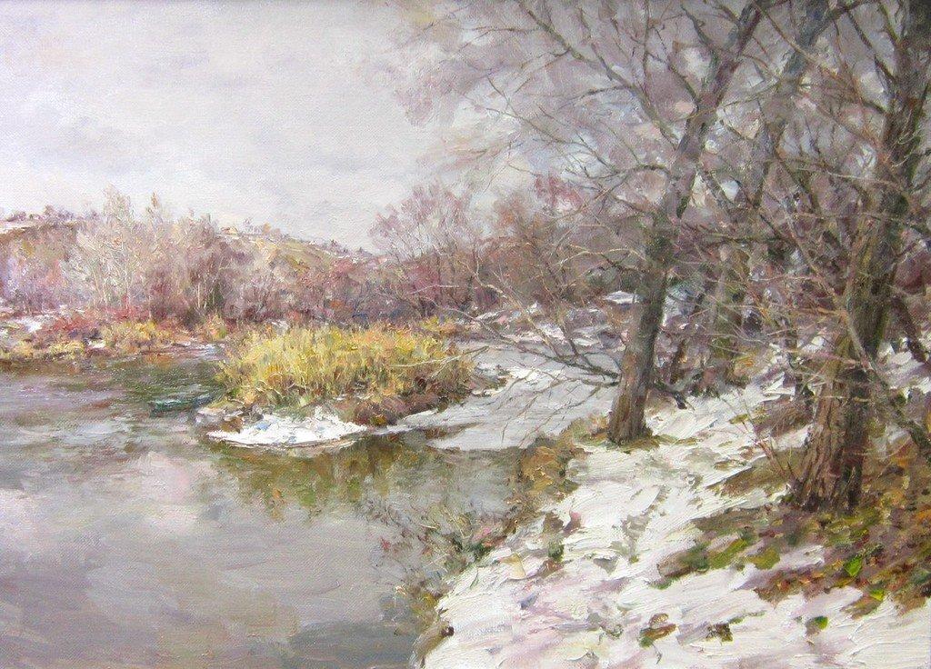 """Е. Г. Ворожцов. """"Есть прелесть в сей красе суровой, есть прелесть в молодой зиме""""."""