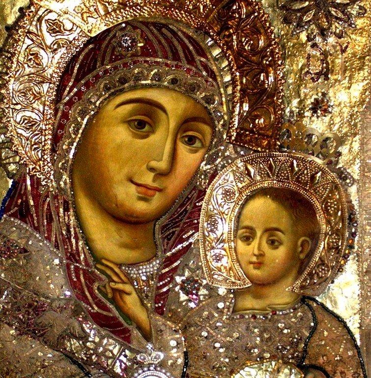 Чудотворная Вифлеемская икона Божией Матери. Базилика Рождества Христова в Вифлееме. Лики.