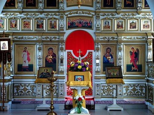 Церковь Воздвижения Честного Креста Господня в Дашково-Песочне, иконостас.