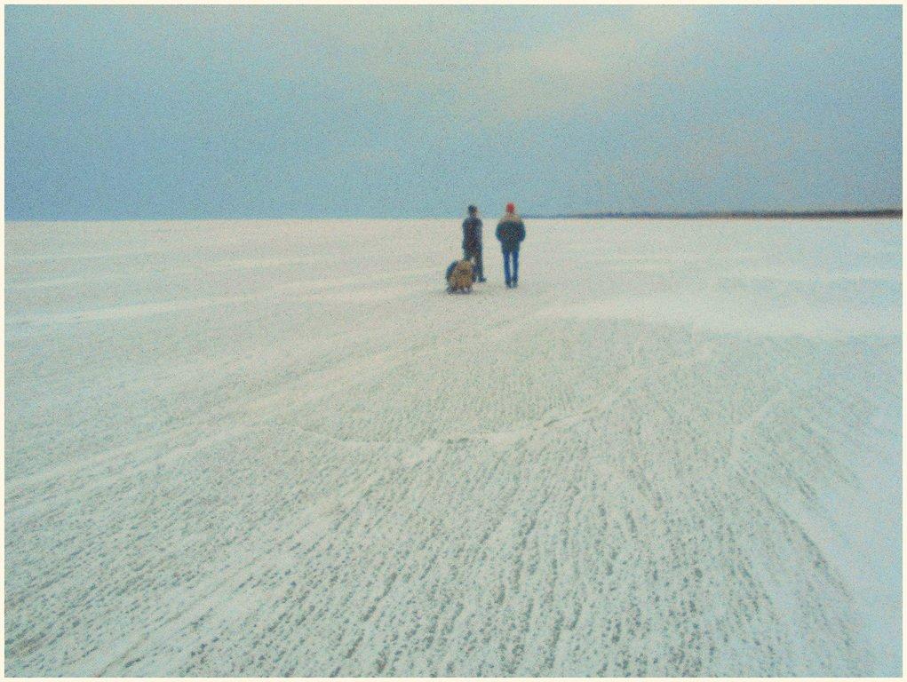 В походе, пешком, по льду, море Азовское, февраль ... 011