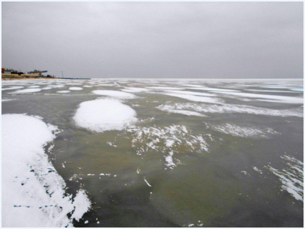 В походе, пешком, по льду, море Азовское, февраль ... 003
