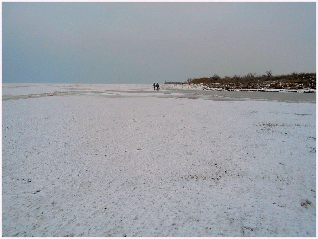 Зима, в походе пешем, февраль, Азовское побережье... 002. 001