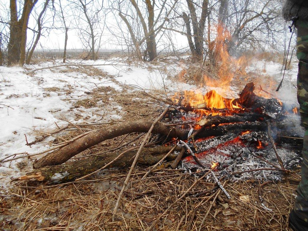 Огонь, костёр, В походе зимнем, Азовское побережье, туризм, февраль...003. 009