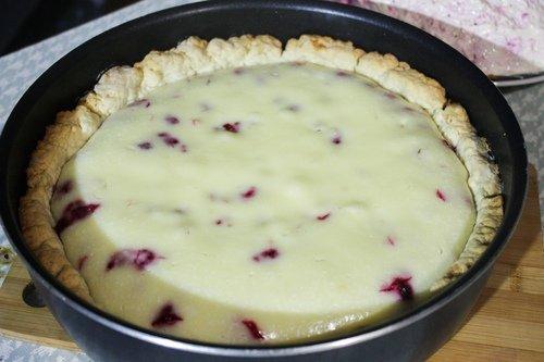 Цветаевский пирог с малиной.