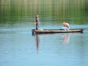 Мальчишки на реке Челбас