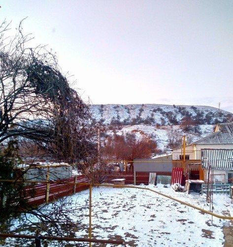 В Крыму снег и морозы!
