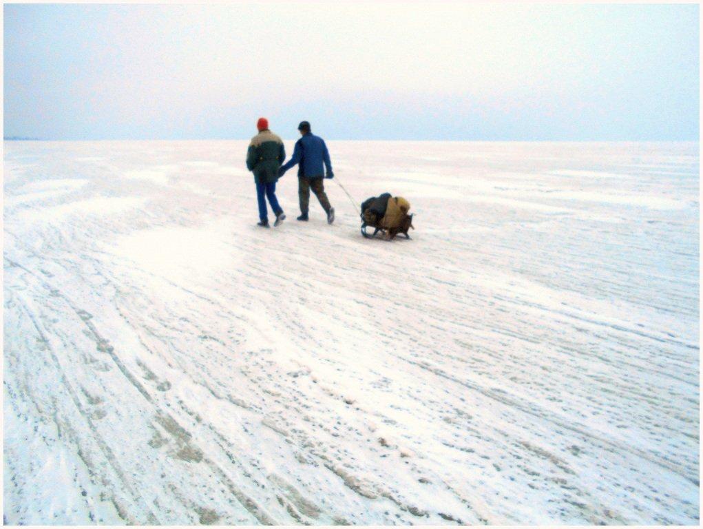 Из леса к морю, февраль, в походе, лёд, снег... 004. 015