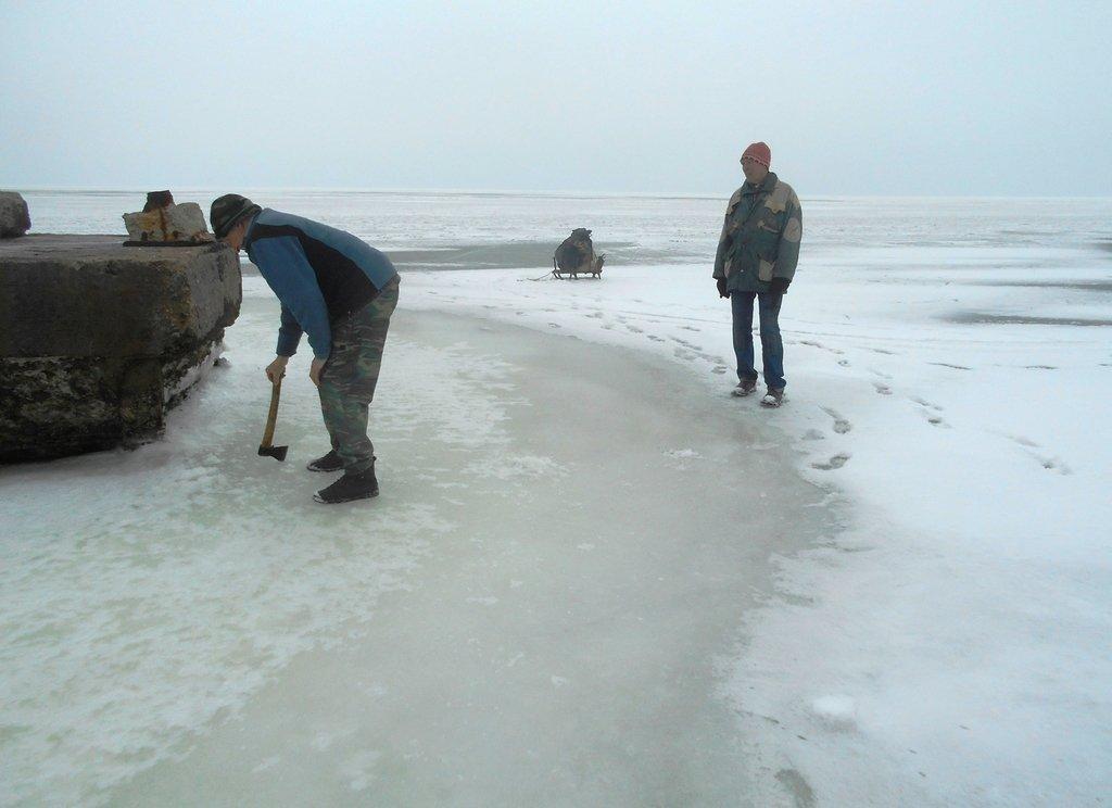 Из леса к морю, февраль, в походе, лёд, снег... 004. 016