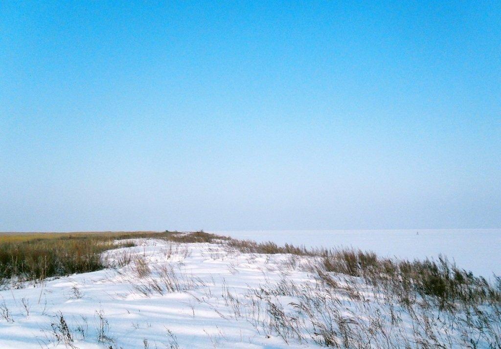 С рюкзаком, море заснеженное, на косу Ачуевскую... 002. 005