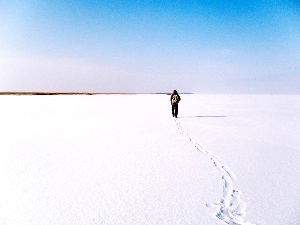 У косы Ачуевской, Зима, снег, Азовское побережье... 003. 004
