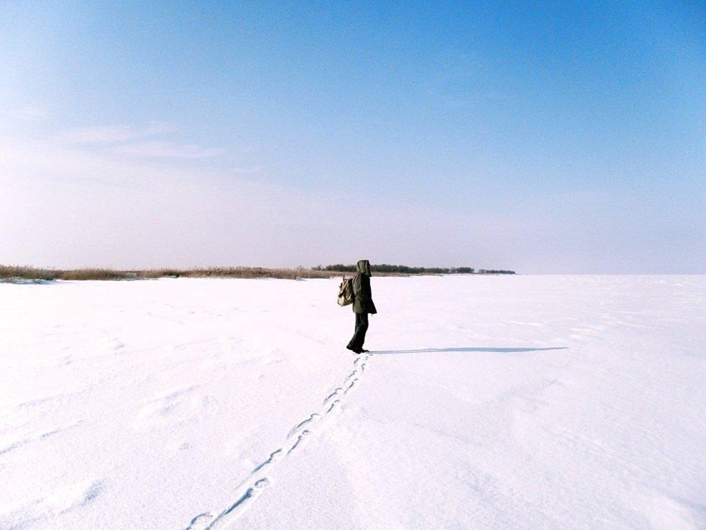 У косы Ачуевской, Зима, снег, Азовское побережье... 003. 007