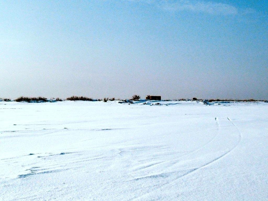 У косы Ачуевской, Зима, снег, Азовское побережье... 003. 002