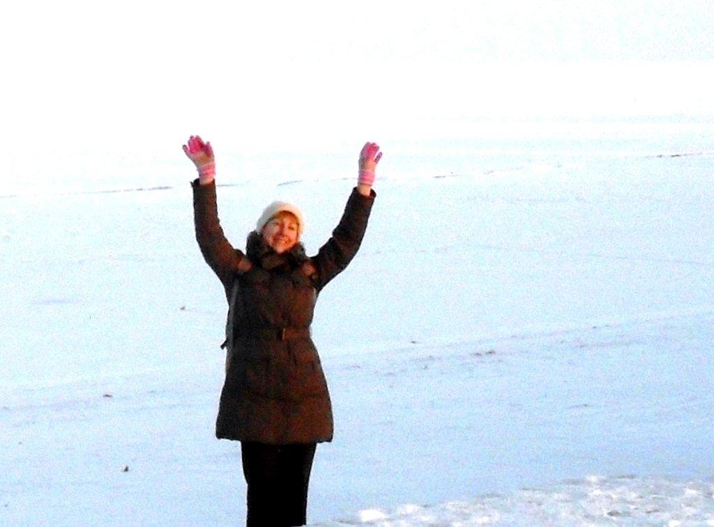 В походе, Зима, у моря, снег...001. 002. 009