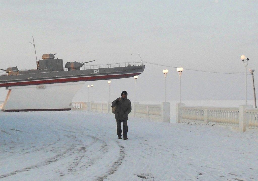 В походе, Зима, у моря, снег...001. 002. 007
