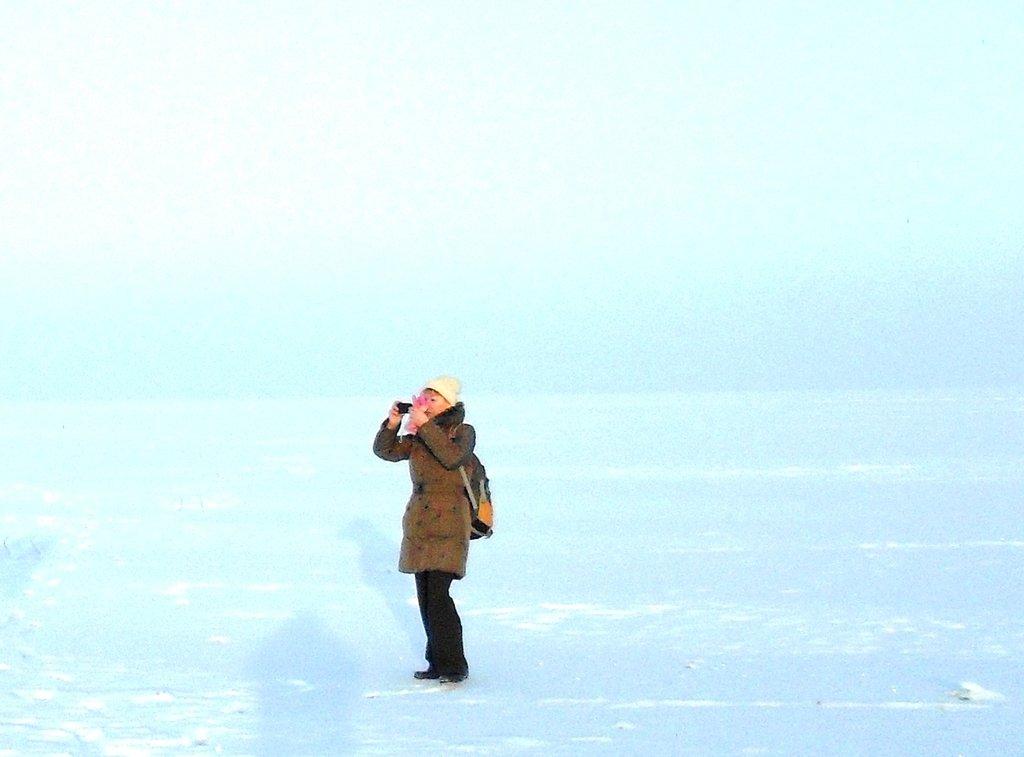 В походе, Зима, у моря, снег...001. 002. 011