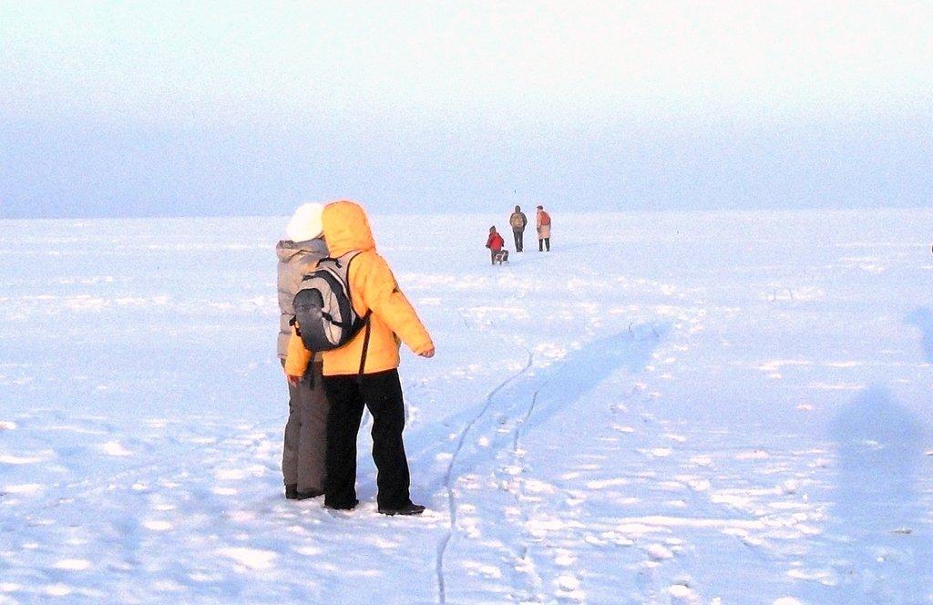 В походе, Зима, у моря, снег...001. 002. 010